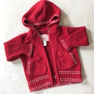 Baby gap red knit sweater 18-24 months